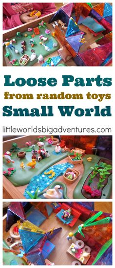 Create a Loose Parts Small World from Toys and Random Things around the Home | Little Worlds Big Adventures