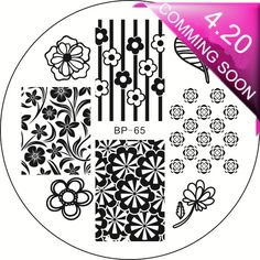 $1.59 Chic Rose Flower Nail Art Stamping Template Image Plate BORN PRETTY BP65 - BornPrettyStore.com. Use my code PQL91 to save 10% (not valid on sale items)
