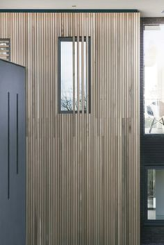 Image 5 of 22 from gallery of 4 Views / AR Design Studio. Photograph by AR Design Studio Larch Cladding, Wooden Cladding, Exterior Wall Cladding, Wooden Facade, House Cladding, Facade Design, House Design, Aluminium Windows And Doors, Studio Build
