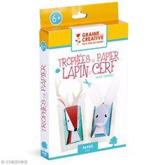Compra nuestros productos a precios mini Kit Trofeo papel 3D - Conejo y Ciervo - Entrega rápida, gratuita a partir de 89 € !