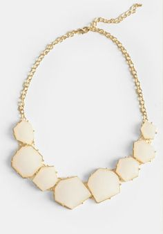 White Light Jeweled Necklace - $20.00 : ThreadSence, Women's Indie & Bohemian Clothing, Dresses, & Accessories