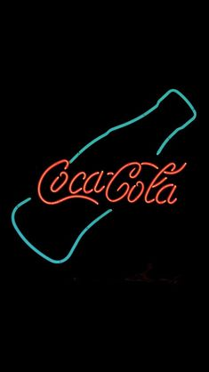 Coca Cola Neon Sign Design Art #iPhone #5s #wallpaper