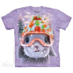 Look at this Purple Snow Bunny Tee - Toddler & Kids by The Mountain Big Face, Snow Bunnies, Bunny Rabbits, Sport, Cotton Tee, The Ordinary, Graphic Tees, Classic T Shirts, Tee Shirts