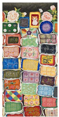 The full-time artist exhibition work-INSIDE Korea JoongAng Daily – World of Flowers Korean Art, Asian Art, Korean Style, Easter Backgrounds, Korean Painting, Cartoon Kunst, Asian Design, Art Template, Cartoon Art Styles