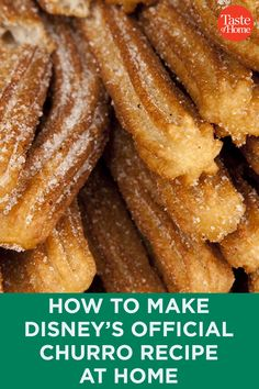 Churros Recipe Discover Disney Just Shared Its Churro Recipe So You Can Cook Up Some Magic at Home Hold on to your Mickey earsthis is BIG news! Fun Baking Recipes, Vegan Recipes, Snack Recipes, Cooking Recipes, Cat Recipes, Cupcake Recipes, Sweet Recipes, Snacks, Homemade Churros Recipe