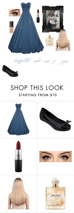 """""""Beautiful"""" by stay-strongforever ❤ liked on Polyvore featuring Zac Posen, Melissa, MAC Cosmetics, Extension Professional, Sarah Jessica Parker, NARS Cosmetics, women's clothing, women's fashion, women and female"""