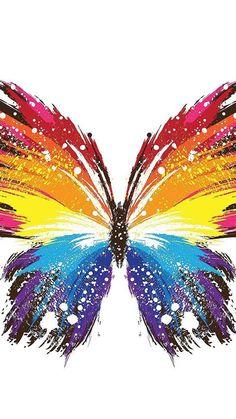 Butterfly Painting, Butterfly Wallpaper, Butterfly Art, Rainbow Butterfly, Colorful Wallpaper, Butterfly Mobile, Butterfly Images, Glitter Wallpaper, Pink Wallpaper