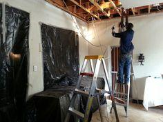 Repairing ceiling battens