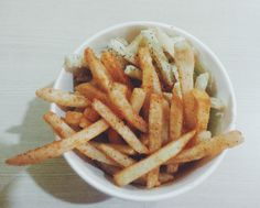 It feels good to splurge yourself with some fries and stuffs like that, while catching up with Jillian on 30th of October 2014.