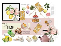 """""""Time For Tea"""" by amalieastrid on Polyvore featuring interior, interiors, interior design, home, home decor, interior decorating, Home Decorators Collection, Le Creuset, Pottery Barn and Real Simple"""
