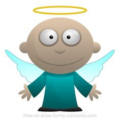 A divine cartoon angel that cannot wait to make your life happier!