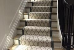 Marrakech with a canvas border on this staircase!! From Tuftex Carpets of California