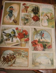 1880s trade cards/Calling cards collage