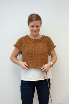 Want to knit along? Come and join us as we knit up the fast, fun, Winston Pullover pattern! Knitting Ideas, Crochet Top, Join, Style Inspiration, Pullover, Casual, Pattern, Fabric, Sweaters