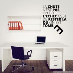 Stickers muraux citations - Sticker La chute n'est pas... | Ambiance-sticker.com