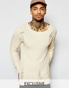 Underated | Underated Oversized Jumper With Distressing at ASOS