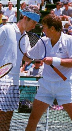 Jimmy Connors and John McEnroe, my two all time favourite male tennis players. They gave us excitement and fun which is lacking in todays tennis