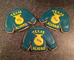 Sugar cookies decorated for National FFA Week