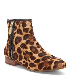 040175983e8b Shop for Louise et Cie Yasmin Leopard Print Calf Hair Stacked Heel Booties  at Dillards.