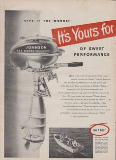 and marine outboard Vintage