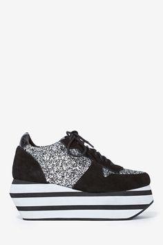 Jeffrey Campbell Furious Suede Sneaker