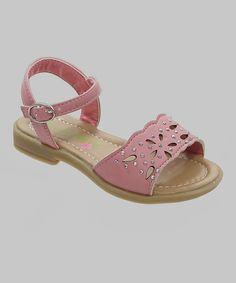 Loving this Petalia Pink Cutout Sandal on #zulily! #zulilyfinds