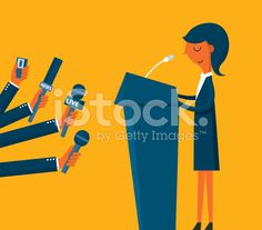Businesswoman giving an interview royalty-free stock vector art