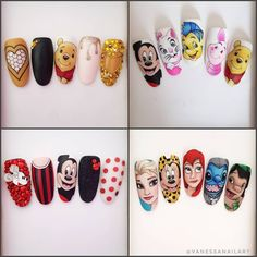 Disney Tips box.- Disney Tips box. Hard to choose 🤔 And you Which one is your favorite? ❤💙💚💛 If you like to tag and comment on this post! Nail Art Disney, Disney Acrylic Nails, Summer Acrylic Nails, Best Acrylic Nails, Cartoon Nail Designs, Nail Art Designs, Dot Nail Art, Floral Nail Art, Sculpted Gel Nails
