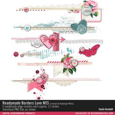 Readymade Borders: Love No. 03- Studio Double-D Elements- EL523461- DesignerDigitals