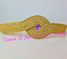 cinturón de fiesta olimpia cordon de seda