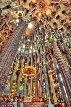 La Sagrada Familia Interior in Barcelona, Spain | As awe-ins… | Flickr