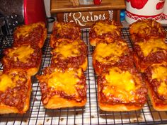 Sloppy Joe Cups. Press a biscuit in the bottom of the Pampered Chef Brownie Pan. Add sloppy joe and top with cheese. Bake at 325 for 15-17 minutes.