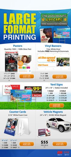 Large Format Printing Specials from QuickPrint Line