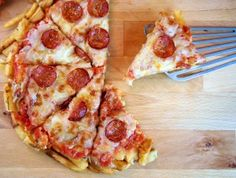 French Fry Pizza