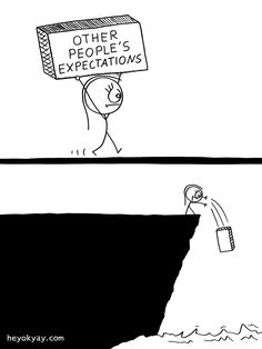 Other people's expectations. Hey ok yay? | #society #comic #humor #heyokyay