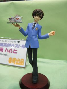 Adorable Haruhi figure from Ouran High School Host Club. Love the tea set and pose. Oh my gods, this is perfect!