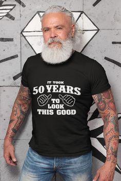 Funny 50th Birthday Gifts, Birthday Shirts, Cool Shirts For Men, T Shirts For Women, Home T Shirts, Shirt Shop, King Birthday, Turning 50, Raves