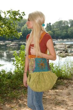 Embroidered Cotton Hippie Sling Bag