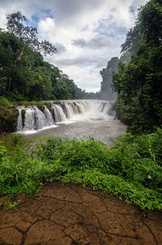 Waterfall in Champasak, Laos