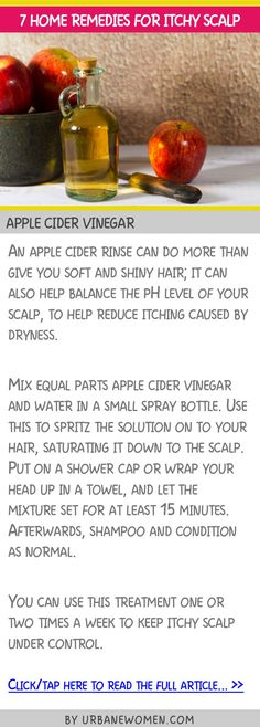 7 home remedies for itchy scalp - Apple cider vinegar