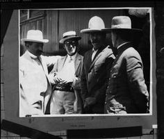 [Portrait of Pancho Villa with a Group of Men] : The Portal to Texas History