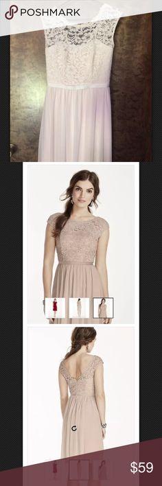Selling this David's bridal lace bridesmaid dress on Poshmark! My username is: lmanley17. #shopmycloset #poshmark #fashion #shopping #style #forsale #David's Bridal #Dresses & Skirts