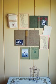 DIY vintage book cover picture frames. For those who want to keep books in a creative form.