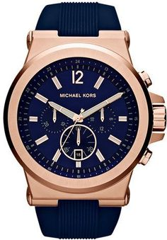MICHAEL Michael Kors Michael Kors 'Dylan' Chronograph Silicone Strap Watch, 48mm