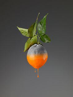 Giorgio Cravero's surreal fruit symbolize mankind's ill-treatment of natural resources