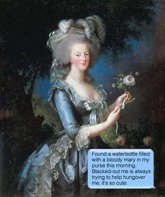 """Portrait of Marie Antoinette, Queen of France. Titled """"Marie Antoinette a la rose"""" it was painted in the rococo style in oils on canvas in 1783 by Marie-Elisabeth Louise Vigee-Le Brun, the Queen's favorite portrait painter. French History, Art History, Funny History, History Class, History Books, Luís Xvi, Maria Theresia, Elisabeth, French Revolution"""