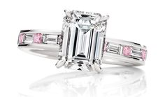 diamonds, diamonds, diamonds... white & pink diamond #ring