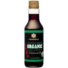 Kikkoman Naturally Brewed Organic Soy Sauce, 10 fl oz