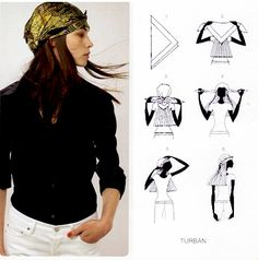 How To Tie A Scarf - Hermès Scarf Knotting Cards Vol.1 - TURBAN