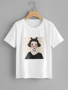 Figure Print TeeFor Women T-Shirt This t-shirt is Made To Order, one by one printed so we can control the quality. Shirt Print Design, Tee Shirt Designs, T Shirt Painting, Women Figure, Tees For Women, Printed Tees, Direct To Garment Printer, Cool T Shirts, Shirt Style
